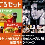 マクドナルド×AKB48 総選挙オリジナルポスター【SKE48もあるよ】